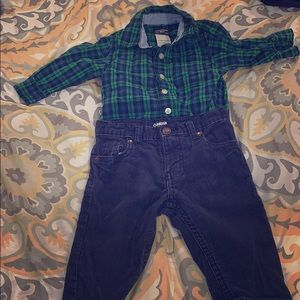 Osh Gosh B'Gosh boys 12m matching set